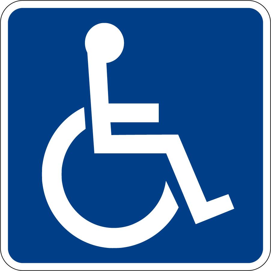 車椅子マークのクリップアート Handicapped Accessible Sign clip art イラスト素材