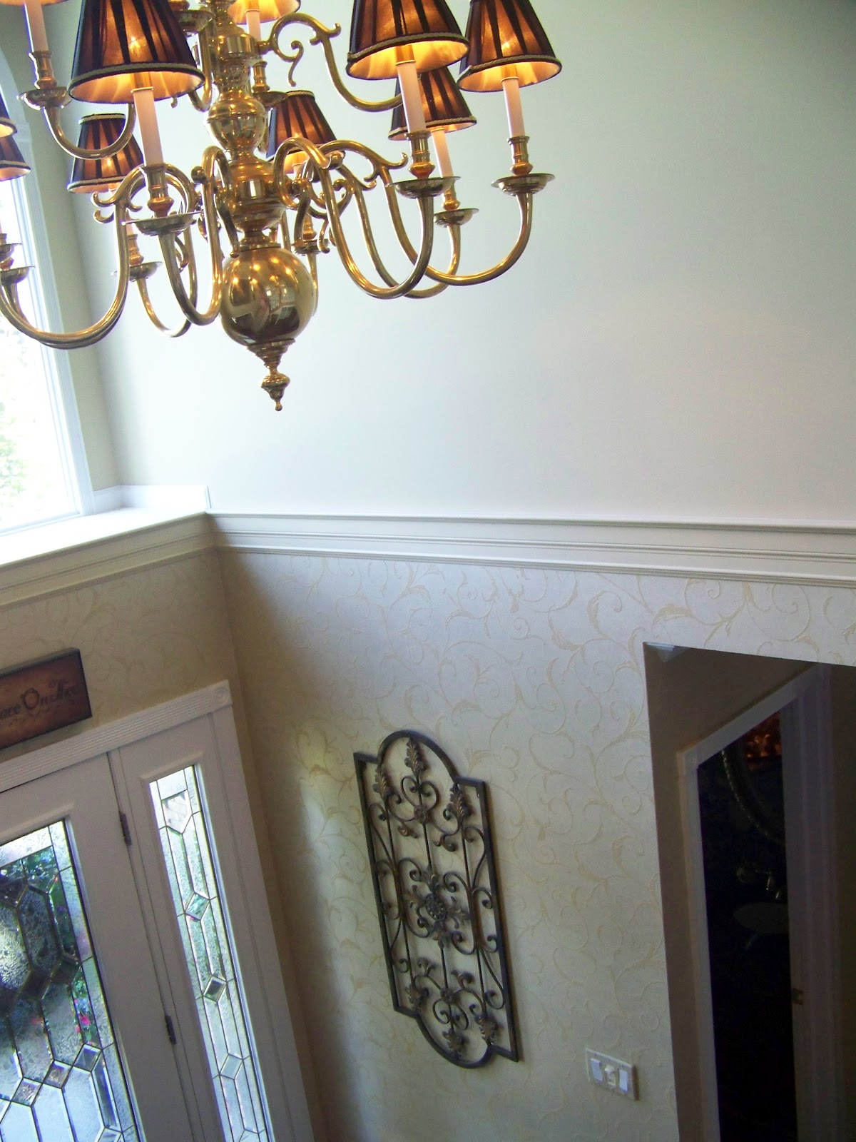 Creations from my heart two story foyer for 2 story foyer decorating pictures