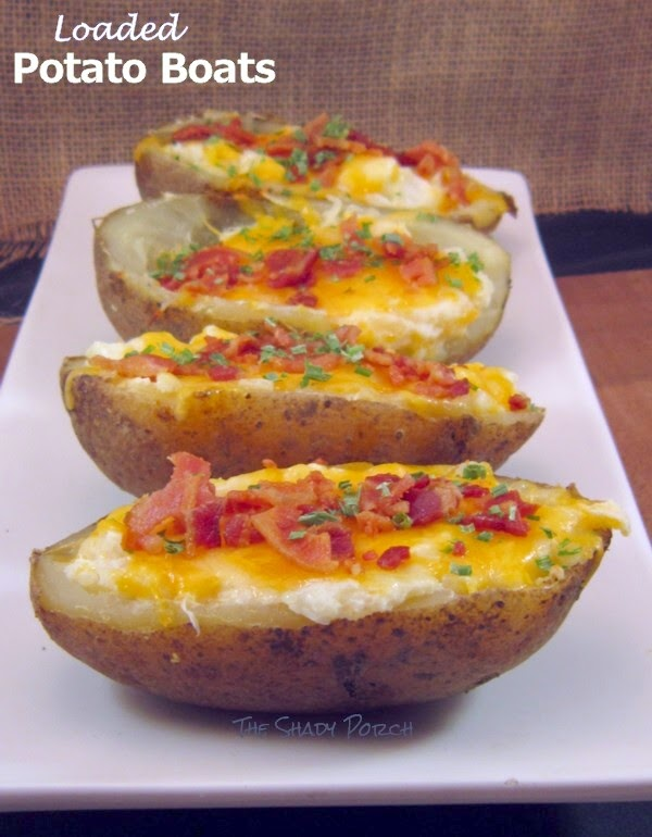 A Platter of Loaded Potato Boats