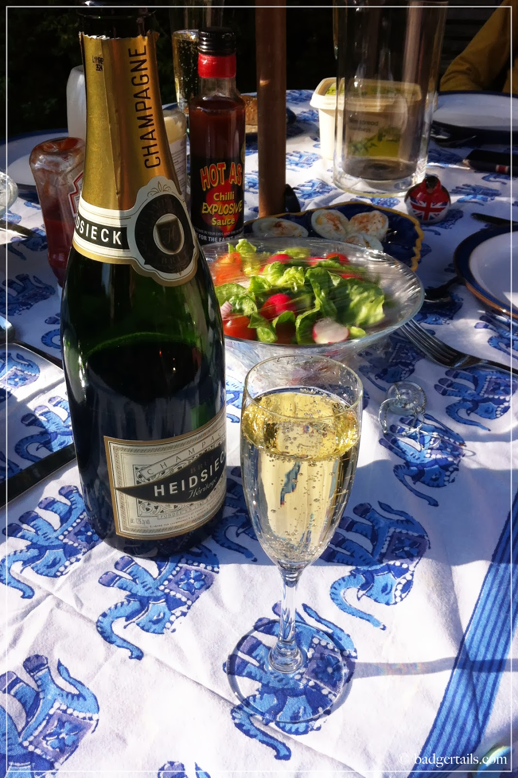 summer champagne barbecue bbq