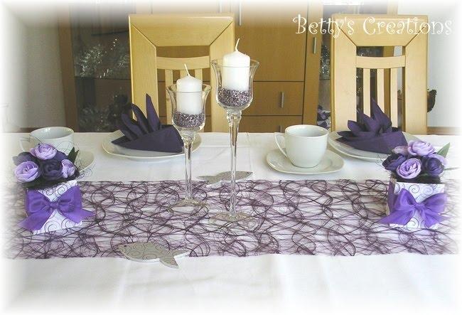 bettys creations lila tischdeko. Black Bedroom Furniture Sets. Home Design Ideas