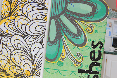 Birthday Wishes Layout detail by Juliana Michaels for Bo Bunny