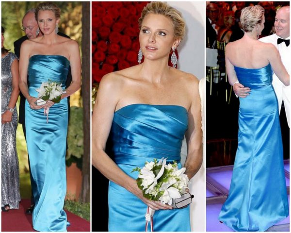 Princess Charlene in Patrice Papa Dress