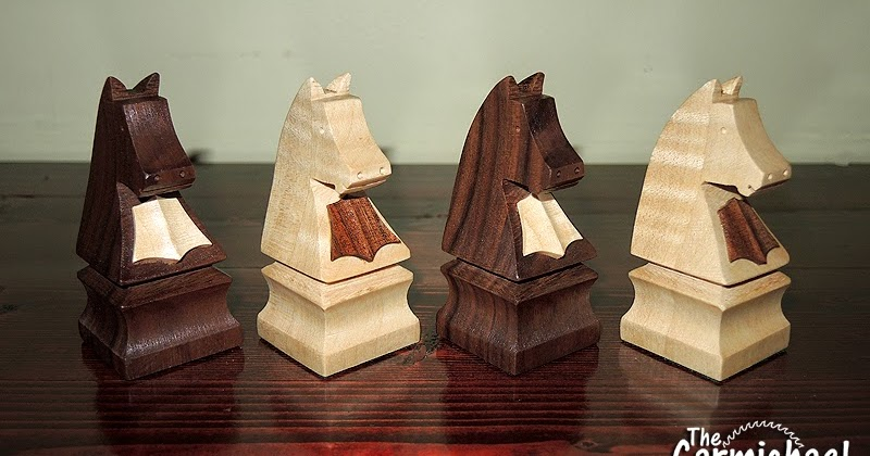 The Carmichael Workshop Making Wooden Knight Chess Pieces