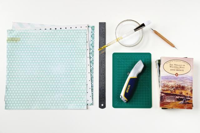 Book Cover Material Paper : Diy scrapbook paper book covers gathering beauty