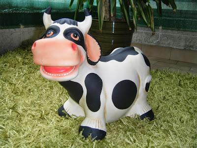 Uma vaca na varanda