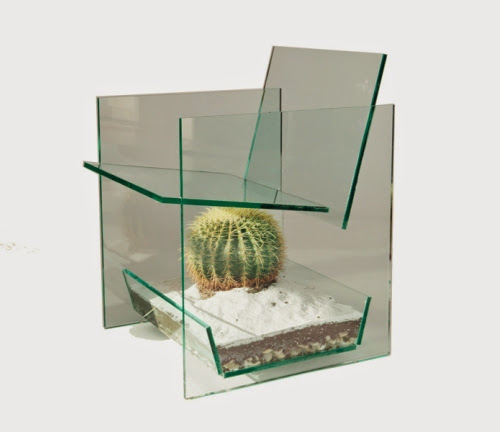 glass transparent cactus chair