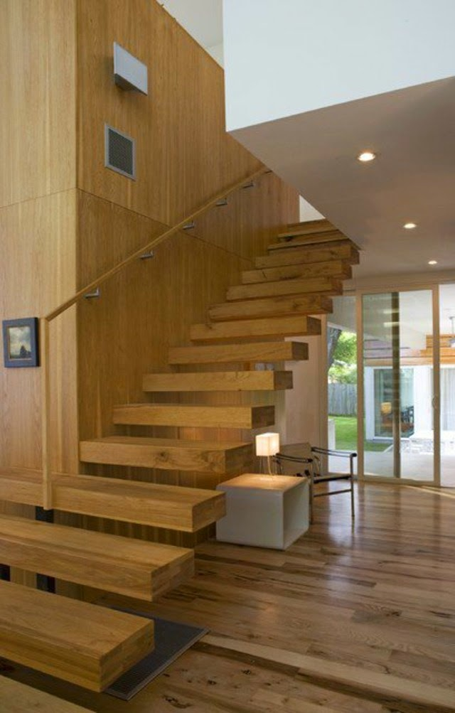 Elegant floating stairs designs wall decoration space Floating stairs