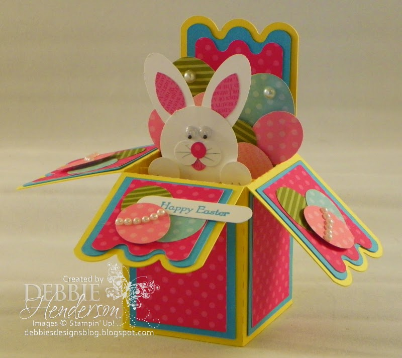 Debbies Designs Easter PopUp Card in a Box – Easter Pop Up Cards