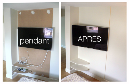 Pierre paris installer un bras pour t l vision - Comment fixer une tablette au mur ...