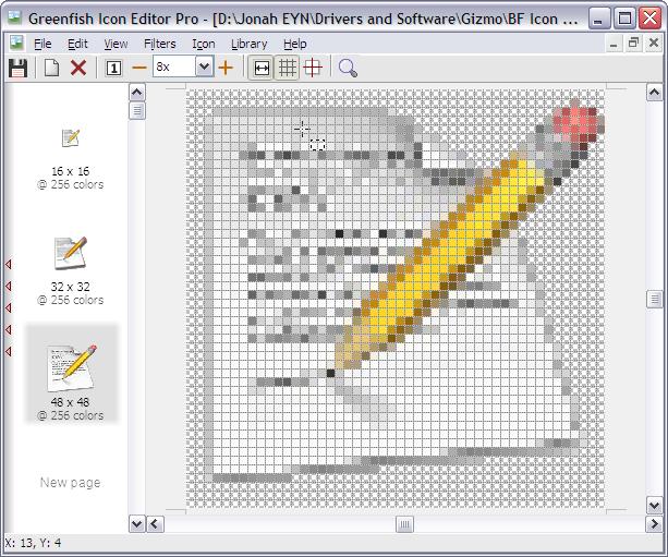 برنامج Greenfish Icon Editor Pro لتصميم وتحرير الايقونات