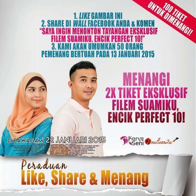 Menang 2 Tiket Eksklusif Filem Suamiku Encik Perfect 10! Tapi......