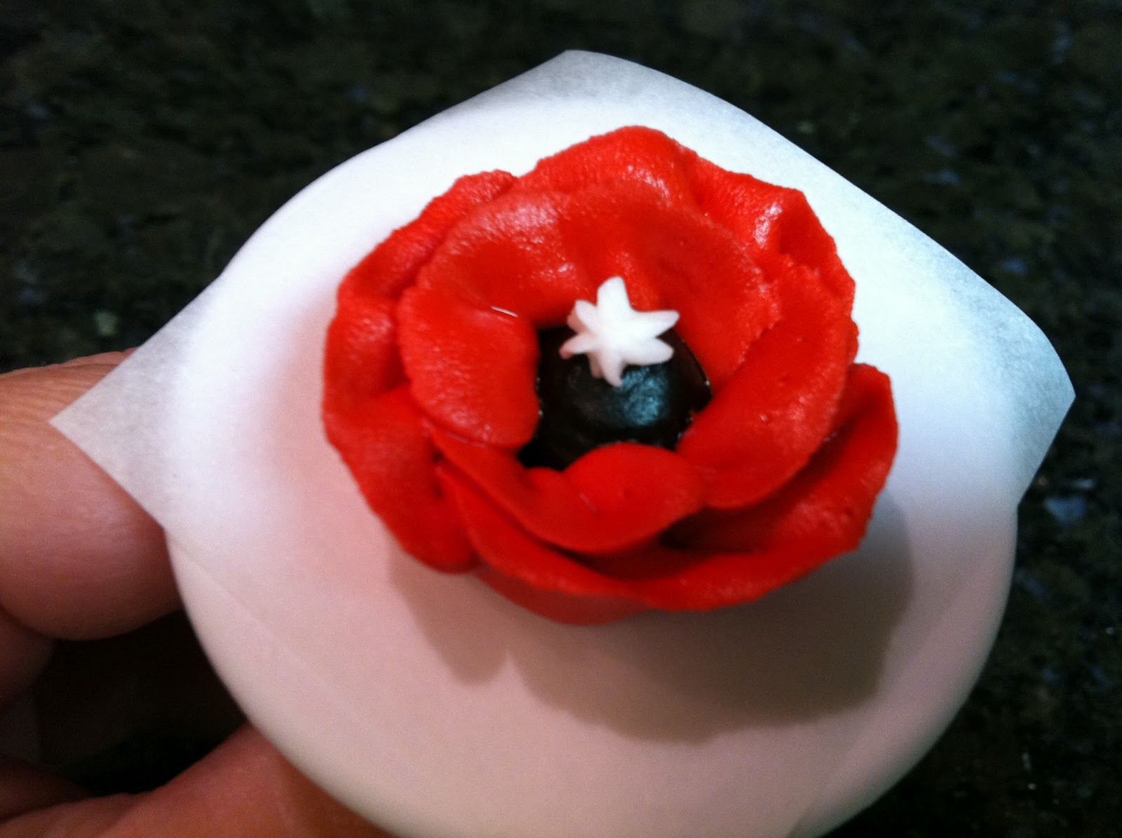 The Iced Queen Royal Icing Remembrance Poppy