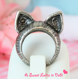 cat ring, cat ears ring, ears ring, silver cat ring, silver ears cat ring