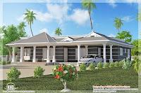 diseño de casa gris con columnas blancas