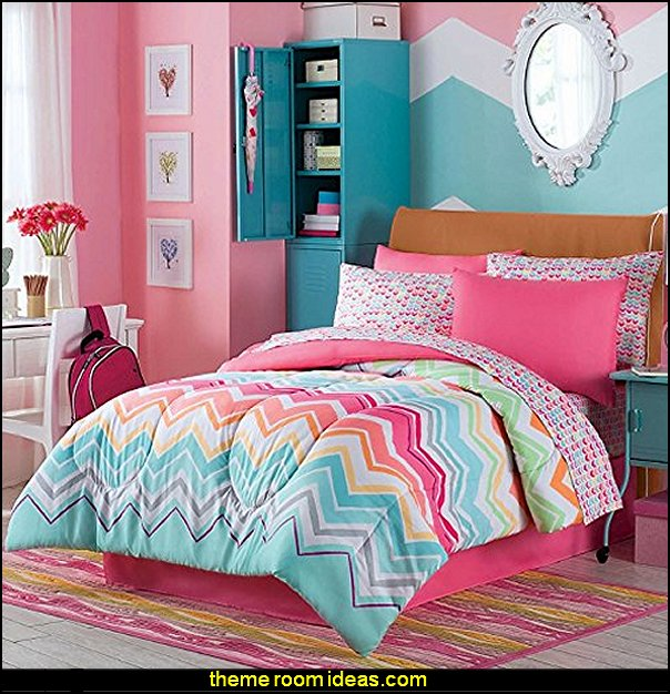 Chevron bedroom decorating ideas zig zag bedroom decorating ideas - Zig Zag  wall decals - Chevron