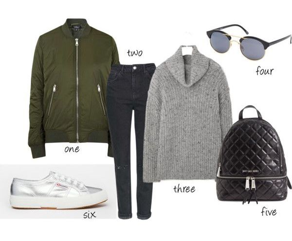 outfit of the day fashion style backpack bomber grey metallic