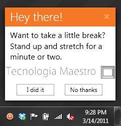 Programar descansos el la computadora con BreakTaker