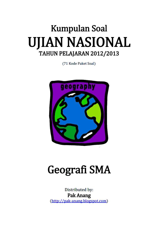 Bank Soal Geografi Dan Kunci Jawaban Kelas 12 Sma Erlangga
