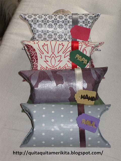 Los paquetes de regalo con tubos del papel higi nico de - Paquetes de regalo ...