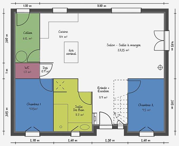 notre projet maison. Black Bedroom Furniture Sets. Home Design Ideas