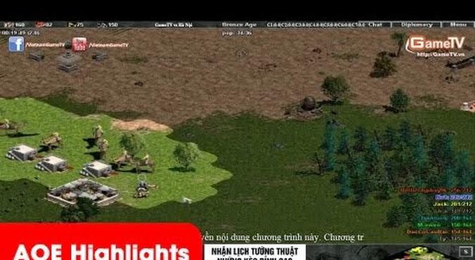 AOE Highlights - G_Ver cầm Palmyran chém một cách điên...
