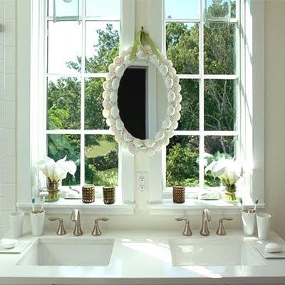 Mirror Over Window In Bathroom
