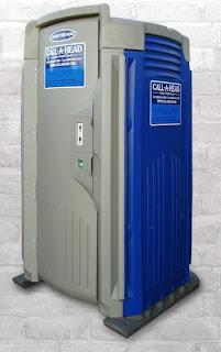 Contractor's Head Portable Toilet in Coney Island