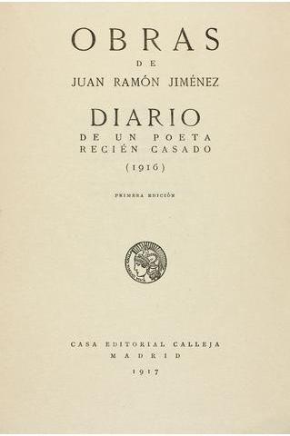 Centenario del Diario de un poeta recién casado (1917-2017)