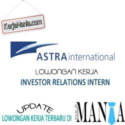 Lowongan Kerja Magang Astra International