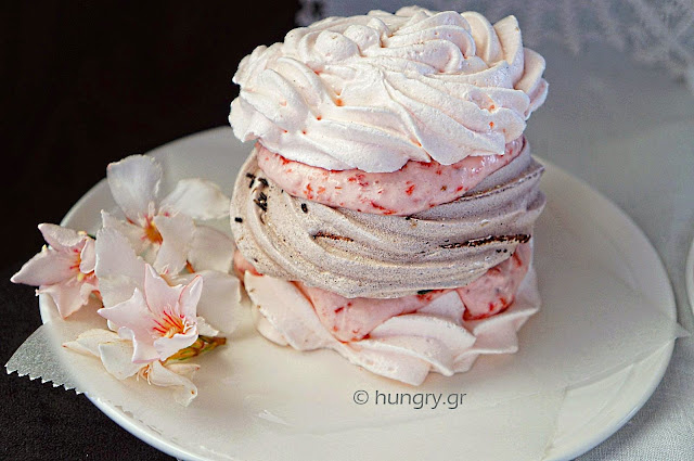 Meringues with Strawberry Whipped Cream