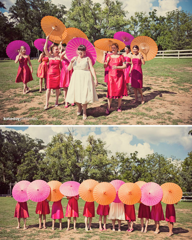 Parasols instead of flowers
