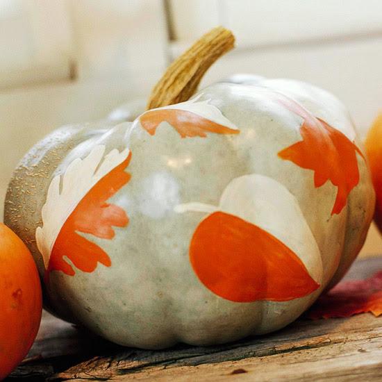 Easy Painted Pumpkins 2013 Halloween Decorations Ideas