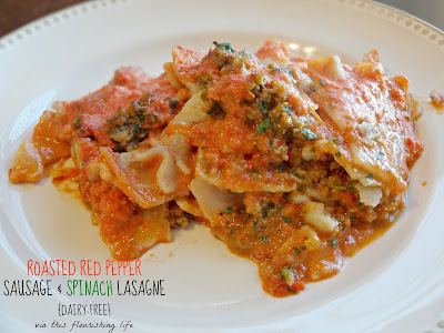 Dairy-Free Tomato-less Lasagne With Sausage And Spinach