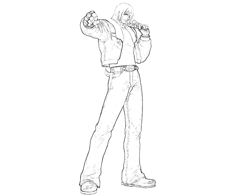printable-king-of-fighters-terry-bogard-handsome-coloring-pages