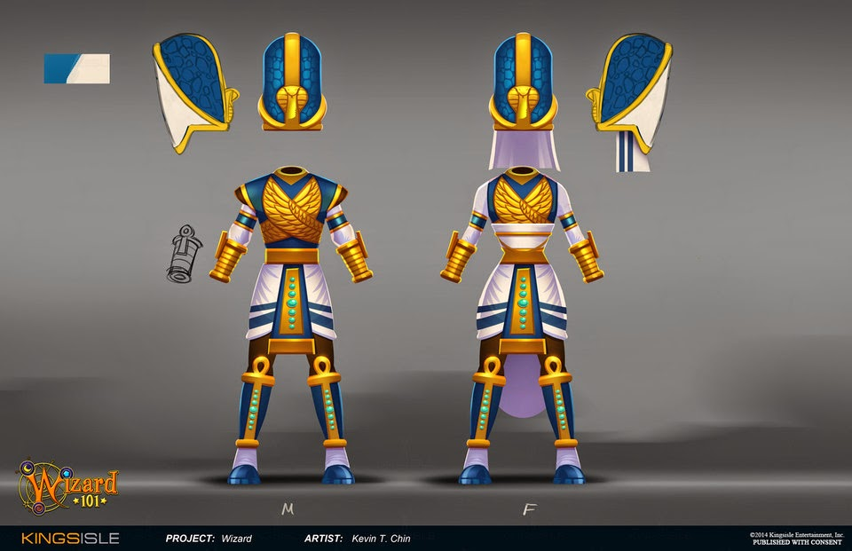 Wizard101 New Four Dungeons Gear Concept Art