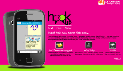 Micromax Hookup free messaging application launched