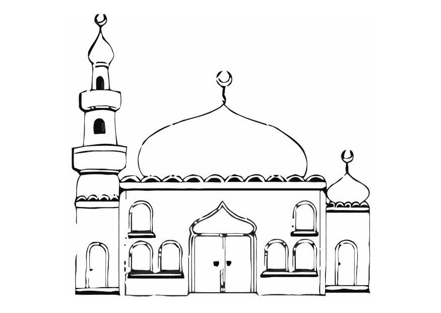 Image Result For Gambar Mewarnai Masjid Sederhana