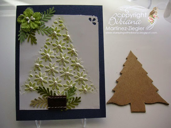 DIY embossing diffuser christmas tree