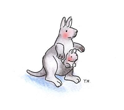 Kangaroo by Yukié Matsushita