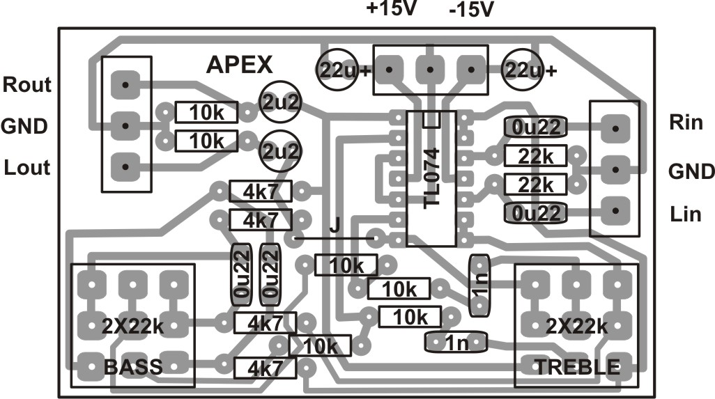 Stereo Tone Control Circuit Diagram | Soft Wiring Layout Pcb Tone Control Apex