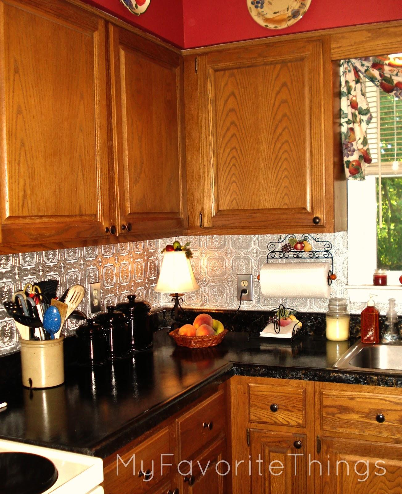 """Kitchen Backsplash Tin: My Favorite Things: """"Punched Tin"""" Backsplash"""