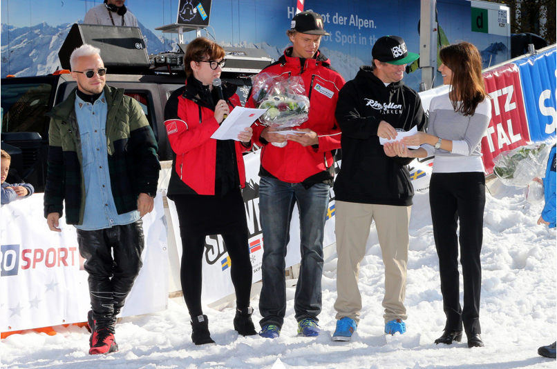L'événement avait lieu près de la cathédrale d'Aarhus où une piste de ski articificielle temporaire a été installée.
