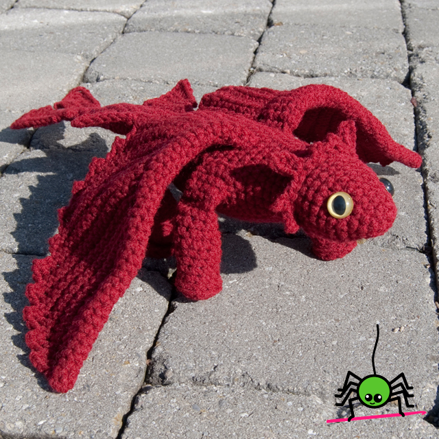Large Amigurumi Pattern Free : The Itsy Bitsy Spider Crochet: Amigurumi Dragon II