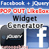Facebook jQuery POP OUT likebox widget generator