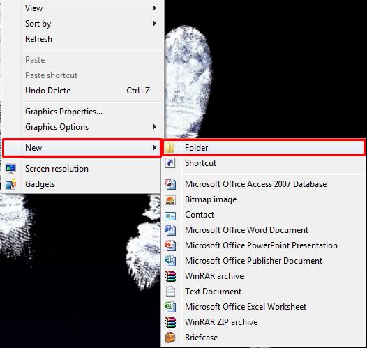 membuat sebuah folder tidak terlihat