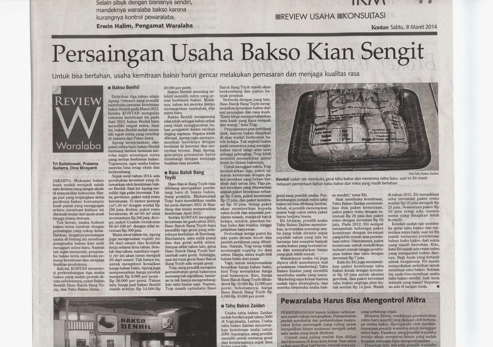 Harian Kontan Sabtu 8 Maret 2014