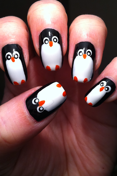 little nailpolish penguin