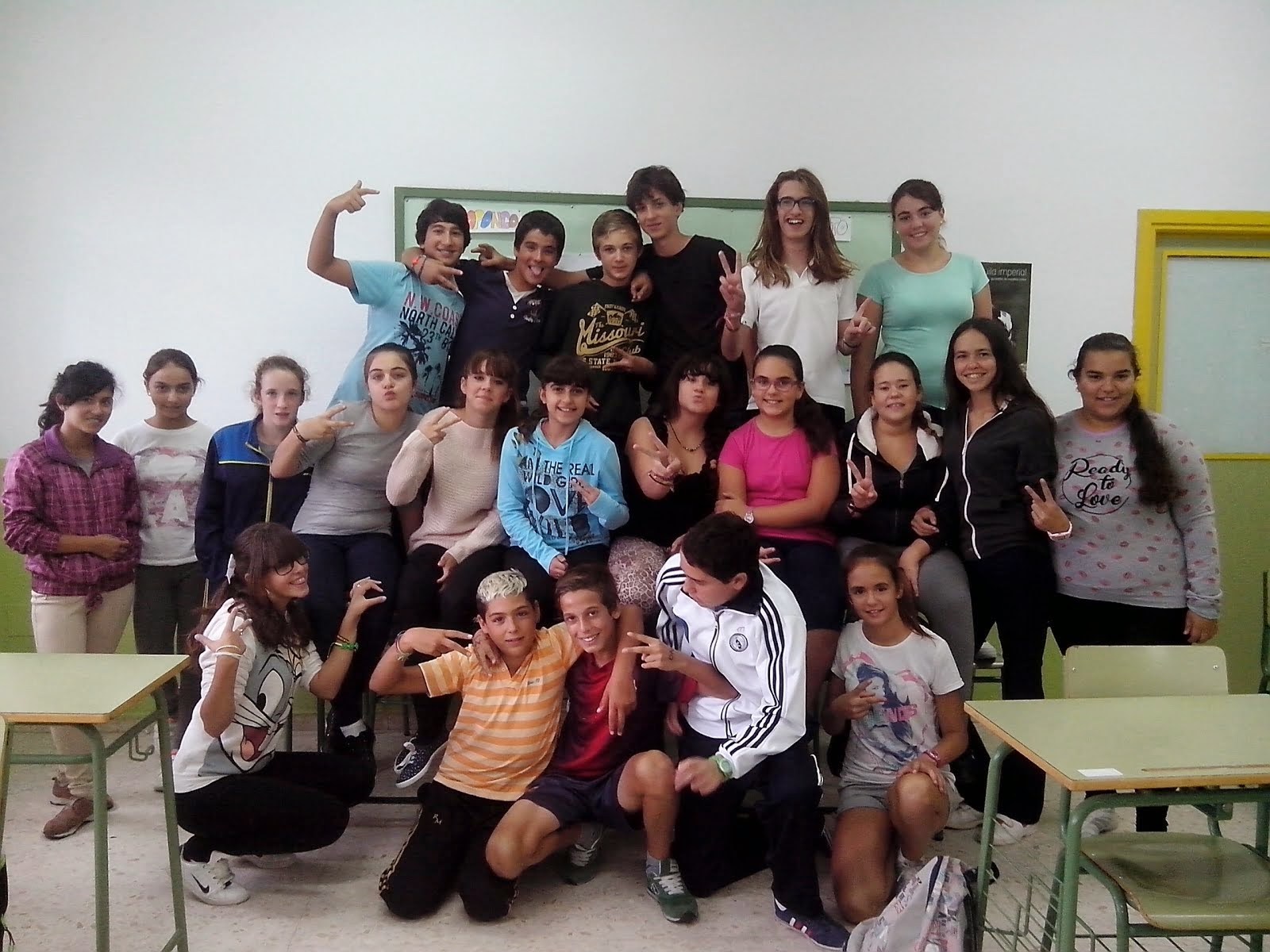 1º ESO A students 2014-2015