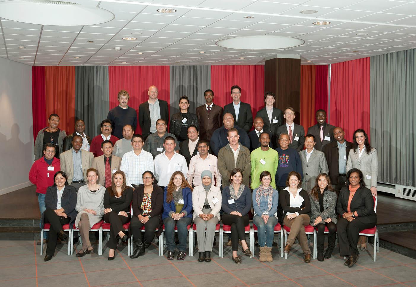 peserta_training_dari berbagai negara di Hilton Hotel Rotterdam